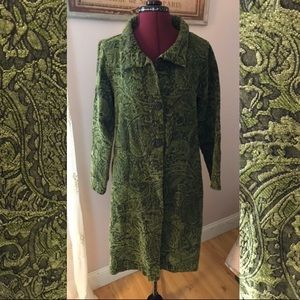 Cut velvet duster coat